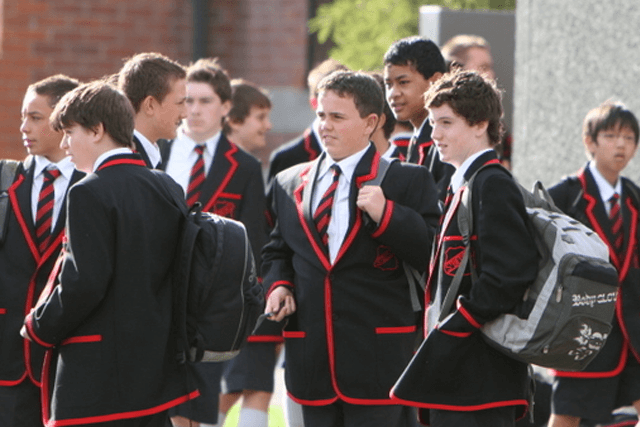 St Bede's College students